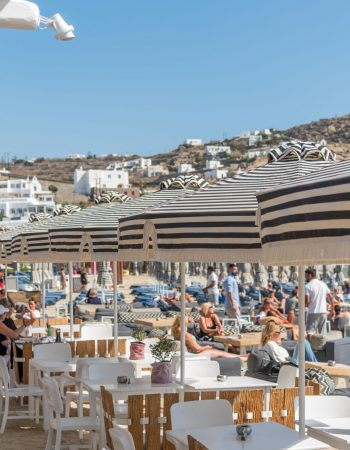 Kuzina beach restaurant Mykonos