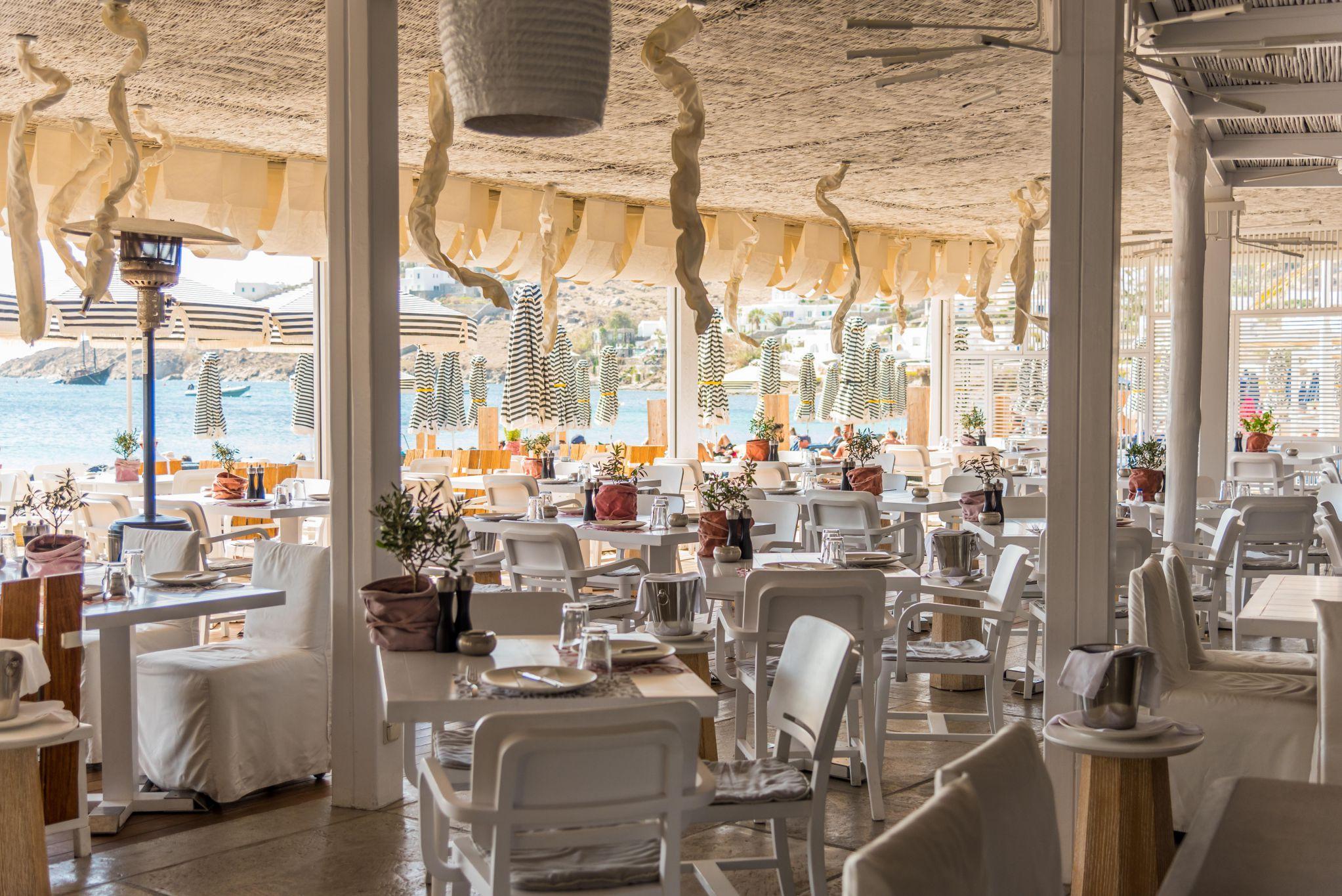 Kuzina beach restaurant Mykonos - Mykonos Best
